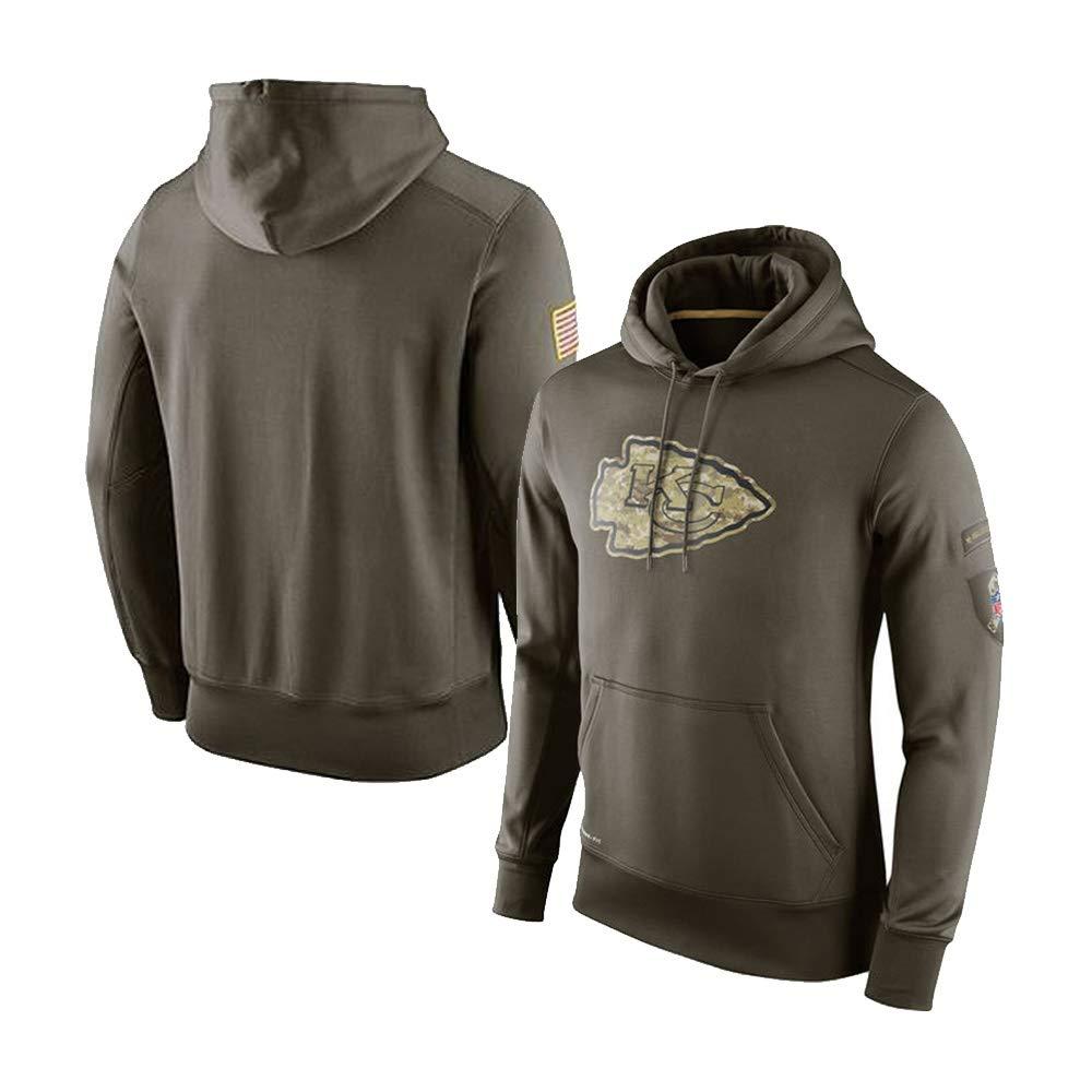 Color : Green, Size : S GJFSweat Kompatibel Mit Kansas City Chiefs M/änner Casual Hoodie Outdoor Sports Kapuzenpullover Langarm Sweatshirt
