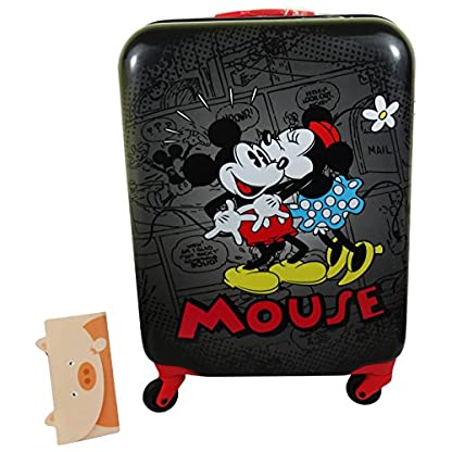 Disney Minnie y Mickey Mouse Retrocomic Bolso Mochila Trolley portátil de hasta Maletas