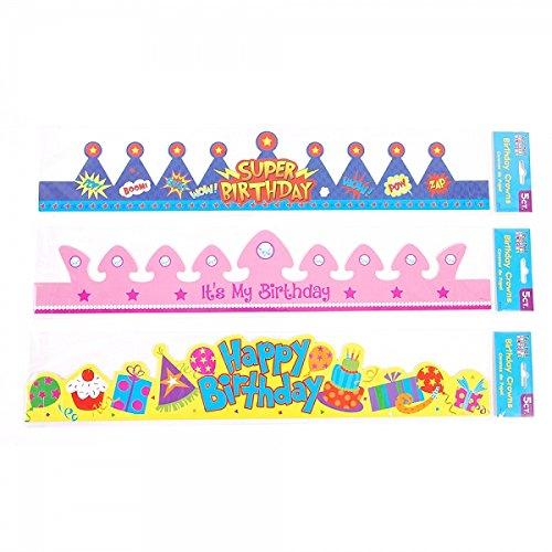 Teacher Building Blocks Birthday Crowns - Boy, Girl, Unisex (3 Packs) Birthday Party, Classroom Birthday Party, Student Party, Incentives, Birthday Gift