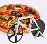Pizza Cutter Wheel Rocker Slicer Knife Chef Kitchen Homemade for Pies Waffles Dough Cookie Non-Stick Stainless Steel Bicycle Shape,1 PCS (White)