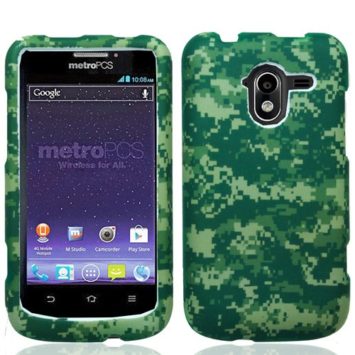 Green Camo Design Hard Cover Case for Zte Avid 4G N9120 by ApexGears
