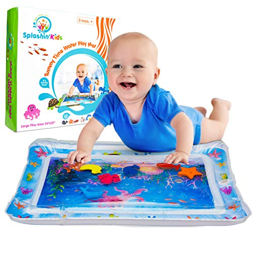 Splashin'kids Inflatable Tummy Time Premium Water mat for Infants & Toddlers is The Perfect Fun time Play Activity Center for Your Baby's Stimulation and - Playmat Water Filled