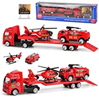 Goodfans 4-Pieces Set Children Alloy Engineering Car Toy Mini Simulation Car Model Toys Vehicle Playsets