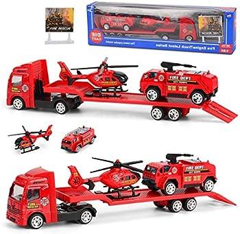 Goodfans 4-Pieces Set Children Alloy Engineering Car Toy
