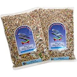 Volkman Avian Science Super African Grey Bird Food for Parrots - 4 Lb (Pack of 2)