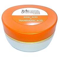 NUEVO Lanzamiento de Belo Essentials Tranexamic + ácido kójico Crema blanqueadora intensiva para cara y cuello Spf 30