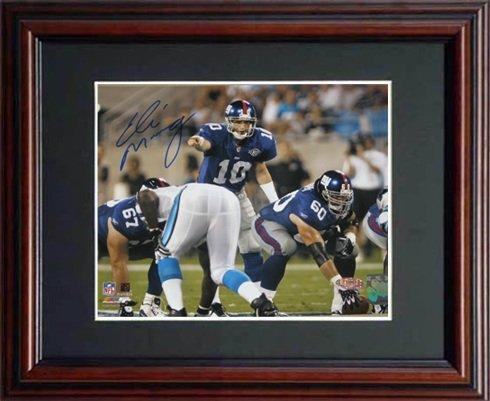 Eli Manning Signed Steiner Framed Photo-8x10