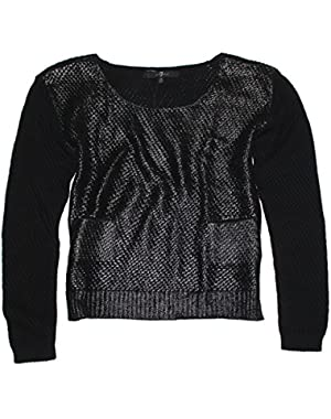 7 For All Mankind Women's Coated Crop Sweater