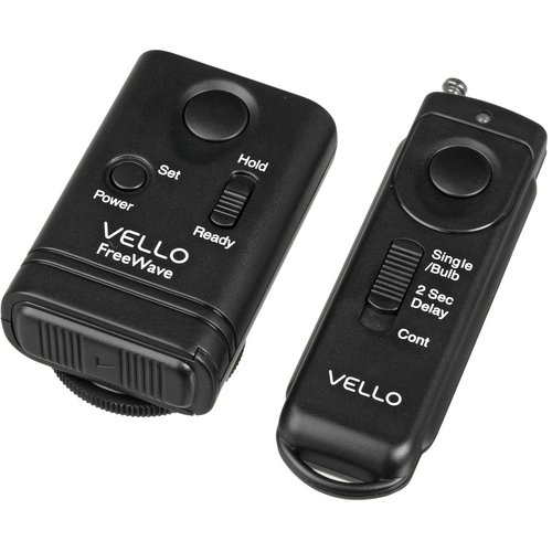 Vello FreeWave Wireless Remote Shutter Release for Nikon DC-2 Connection - D90, D3100, D5000, D5100, D7000
