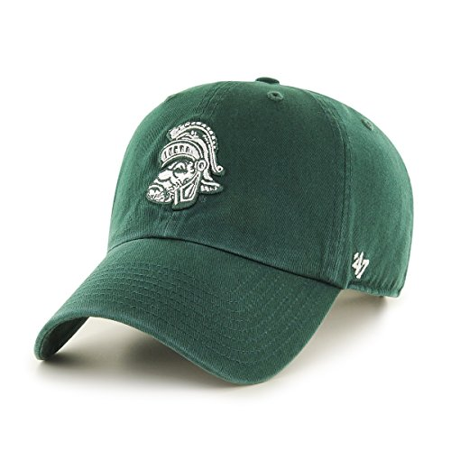 NCAA Michigan State Spartans Clean Up Adjustable Hat, One Size, (Licensed Ncaa College Cap Hat)