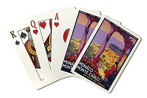 Monte Carlo, Monaco - Vintage Travel Advertisement (Playing Card Deck - 52 Card Poker Size with Jokers) by Lantern Press