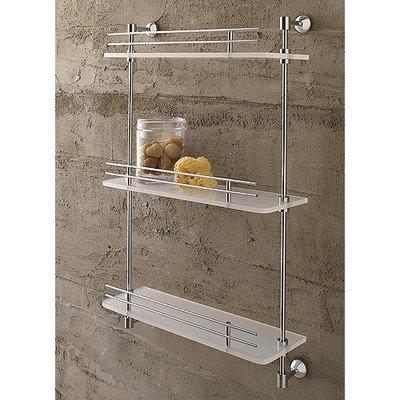 Toscanaluce 1543-638845329675 Riviera Collection Plexiglass Modern Wall Shelf, Chrome