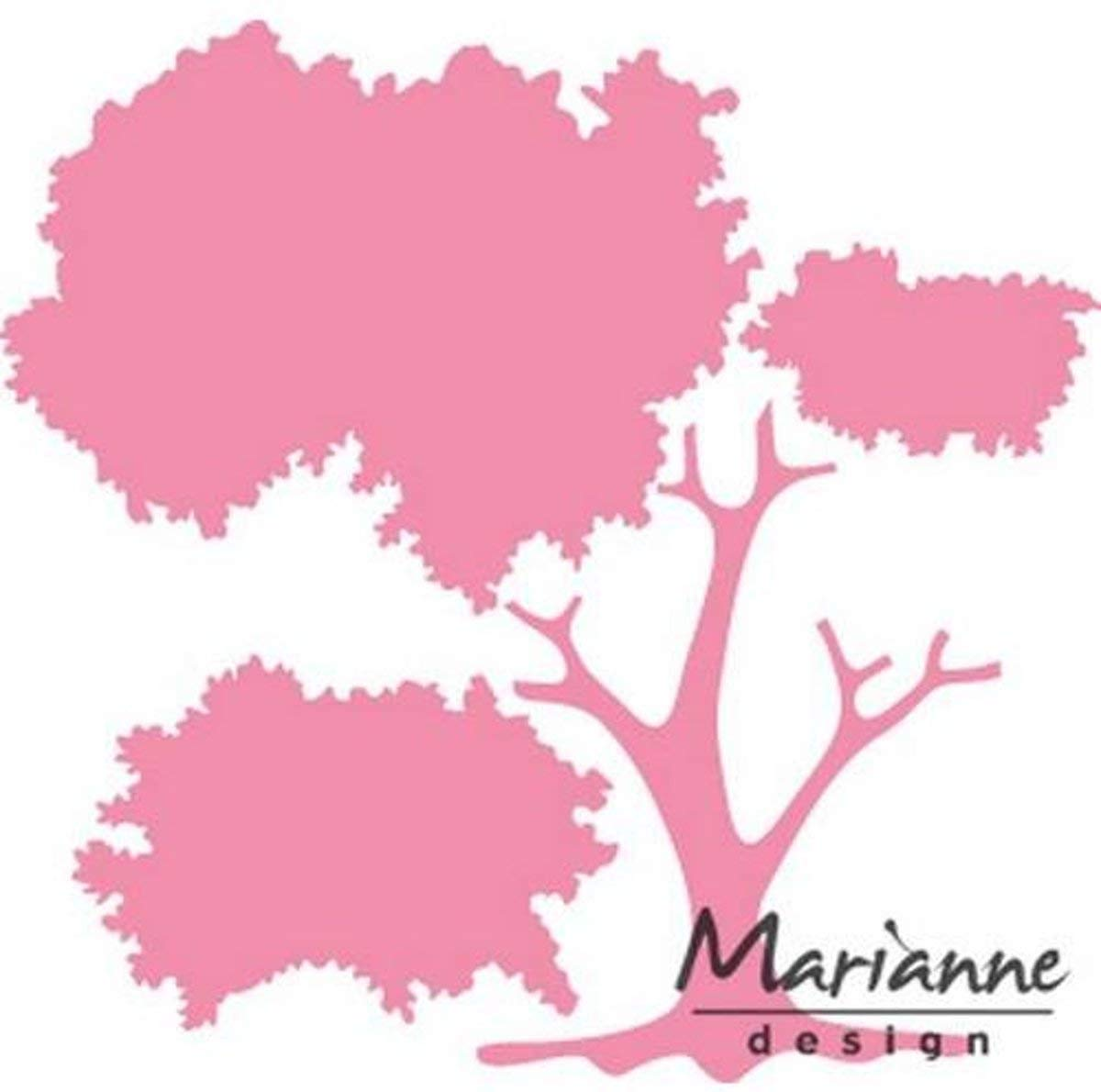 Marianne Design Collectables Build a Tree 13 x 15 x 0.5 cm Metall Rosa