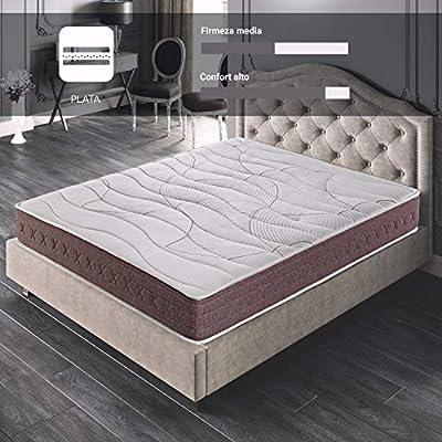 ROYAL SLEEP Colchón viscoelástico 160x200 firmeza Media, Alta Gama, Confort y adaptabilidad Total, Altura 24cm - Colchones Dormant Premium