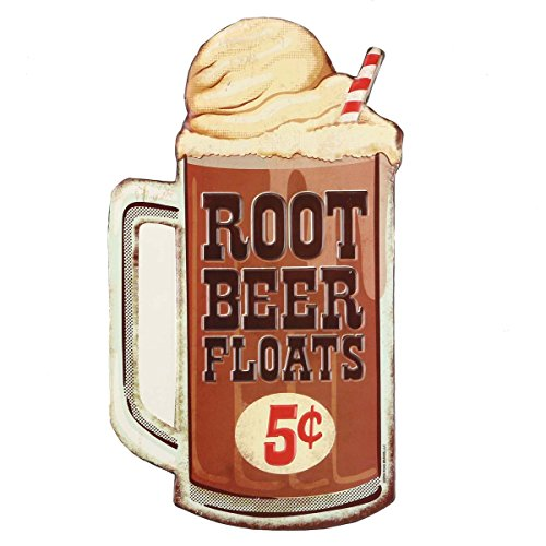 Open Road Brands Small Town Restaurant Signs (Root Beer Float) (Root Beer Tin)