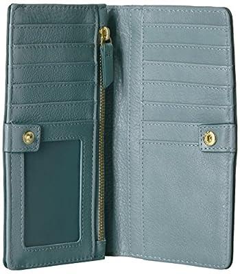 Fossil Caroline Rfid Slim Bifold Wallet Steel Blue Wallet