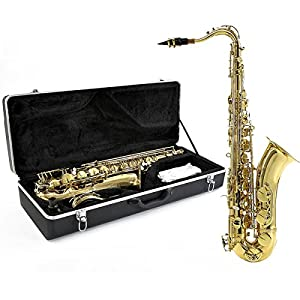 Tenor Saxophone by Gear4music Gold - Ex Demo