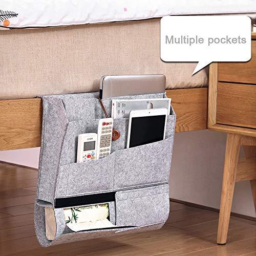 Exblue Bedside Storage Organizer Caddy Bed Pocket Hanging Storage