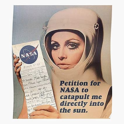 Runwayscout Retro 70S Nasa 60S Sun 50S Funny Vintage The most impressive  and stylish indoor decoration poster available trending now: Amazon.co.uk:  Kitchen & Home