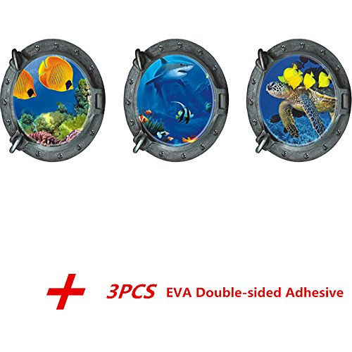 Ocean Shark Sticker Porthole Window product image