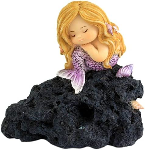 Top Collection Miniature Fairy Garden and Terrarium Little Mermaid in Thought