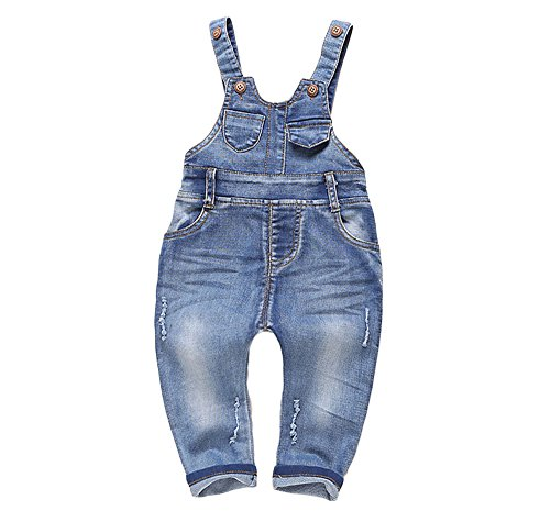 Kidscool Baby and Little Boys/girls Plaid Lining Denim Overalls Jeans Style4 6 - 12 Months