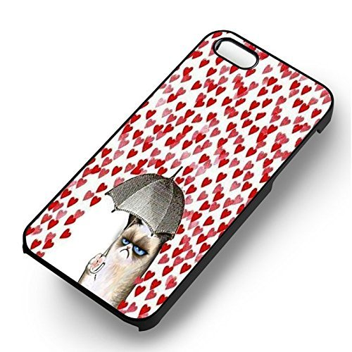 Unique Hearts Rain pour Coque Iphone 5 or Coque Iphone 5S or Coque Iphone 5SE Case (Noir Boîtier en plastique dur) C7G5PI