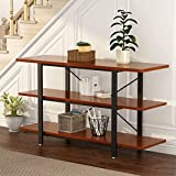 "LITTLE TREE 3-tier Console Sofa Table Bookcase Bookshelf, 59""x15.74""x29.53"", Cherry"
