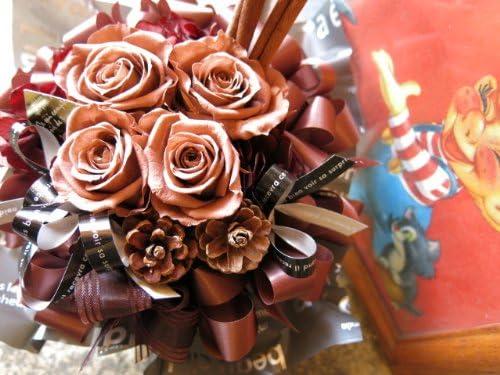 Amazon 誕生日プレゼント 花 ブラウン 茶系 茶色 プリザーブドフラワー プリザーブドフラワー オンライン通販