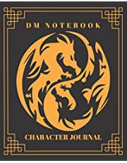 DM Notebook Character Journal: DnD Notebook With 50 Character Sheets and 100 Mixed Pages (Lined, Graph, Hex & Blank)For Role Playing Fantasy Games Campaign Adventure Planner To Create RPG Terrain Maps & Characters, Track 5e Gameplay, Plans, Spells & More