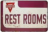 Conoco Rest Rooms Vintage Look Reproduction Metal Sign 8x12 8122890
