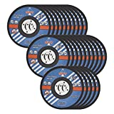 GWT Ultra Thin Disc 4-1/2'' by 0.045'' Metal and Stainless Steel Cut Off Wheels 7/8'' Arbor PACK OF 25