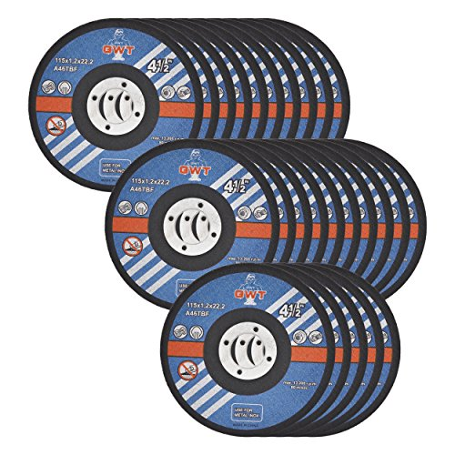 GWT Ultra Thin Disc 4-1/2'' by 0.045'' Metal and Stainless Steel Cut Off Wheels 7/8'' Arbor PACK OF 25 by GWT
