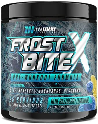 FROSTBITEX PRE-Workout – 25 Servings – Size Strength Recovery Endurance – TOP PRE-Workout