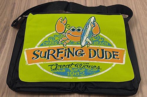 Borsa Tracolla Sport Surf Dude Stampato
