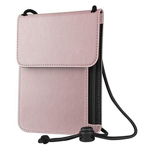 Mikash RFID Blocking Passport Holder Neck Strap Travel Wallet Premium PU Leather Case   Model TRVLWLLT - 111  