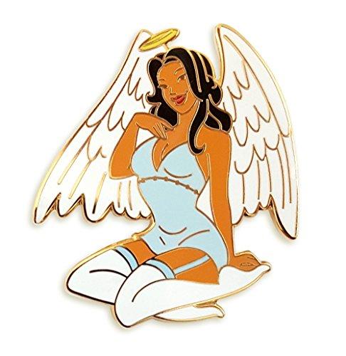 Pinsanity Angel Pin Up Girl Enamel Lapel Pin