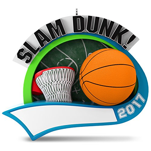 Hallmark Keepsake 2017 Basketball Star Personalization Dated Christmas (Basketball Christmas)