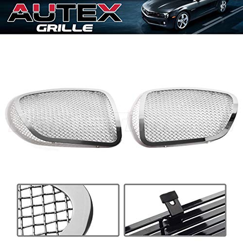 (AUTEX Chrome 1.8mm Wire Mesh Main Grille P75545T Compatible With Pontiac Solstice 2006 2007 2008 Polished Grill Insert)