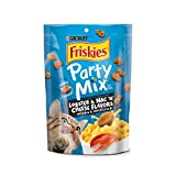 Purina Friskies Party Mix Tender Crunchy Lobster Mac N' Cheese Cat Treats – (6) 6 Oz. Pouches