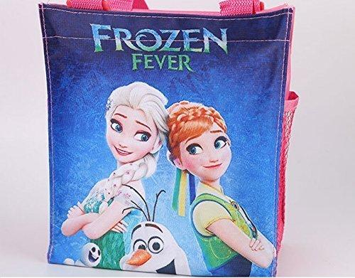 CJB Frozen Elsa Anna School Lunch Bag Zipper Pink (US Seller)