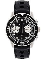 Gigandet Herrenuhr Chronograph Quarzwerk Analog mit Lederarmband Speed Timer G7-005