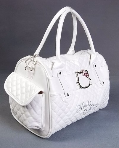 Hello Kitty Shopping Bag Handbag Tote Purse White