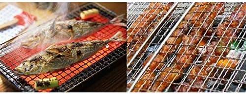 HCHD BBQ Portable en Acier Inoxydable Barbecue Griller Panier for Le Poisson, Les Légumes, Steak, Crevettes, Côtelettes Et Beaucoup d'autres Nourriture (Size : S)