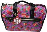 Betsey Johnson Large Nylon Weekender Duffel Bag, Floral/Purple&Red Roses
