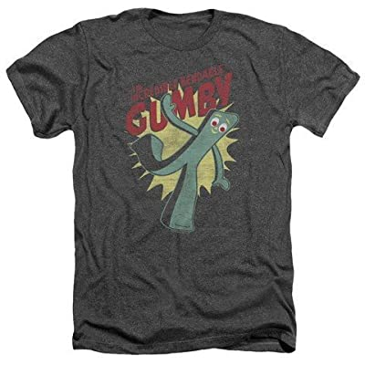 Gumby Green Clay Character Bendable Adult Heather T-Shirt Tee