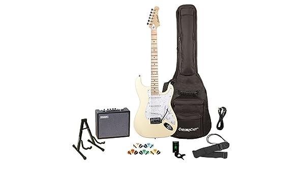 Diente de Sierra eléctrica estilo ST Guitar- incluye: bolsa para accesorios, amplificador, funda y lección: Amazon.es: Instrumentos musicales