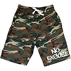 Men's No Excuse V121 Camo Fleece Jogger Sweatpant Gym Shorts Medium Black