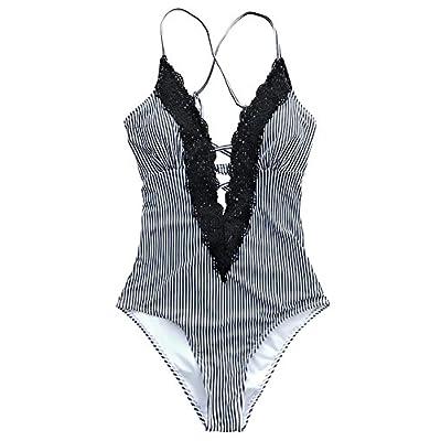 CUPSHE Women's Ladies Vintage Lace Bikini Sets Beach Swimwear Bathing Suit: Clothing