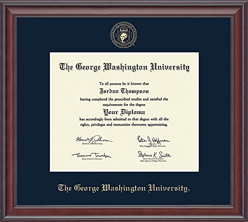 Church Hill Classics George Washington University Gold Embossed Diploma Frame - Solid Hardwood